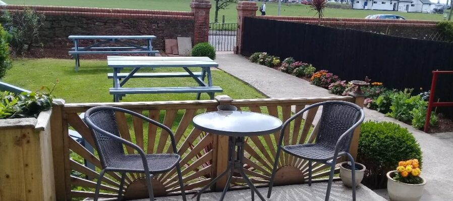 Outside seating in the garden